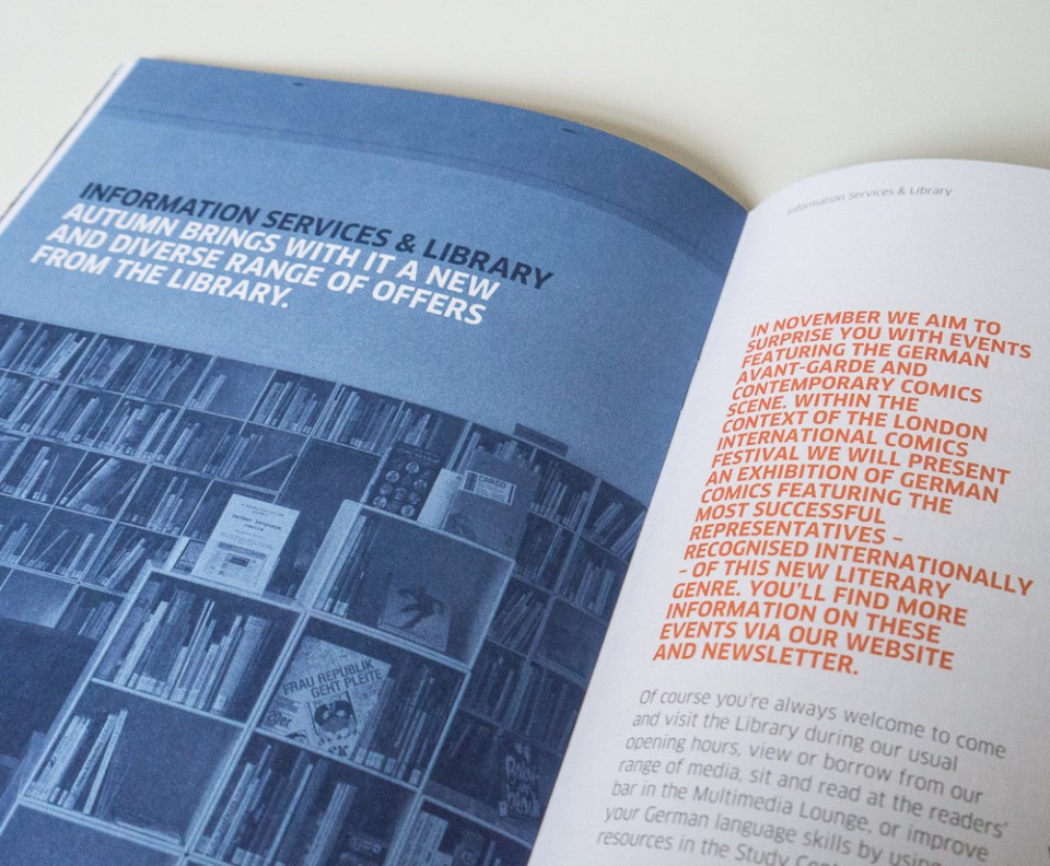 Goethe-Institut London programme of events design – Park Studio