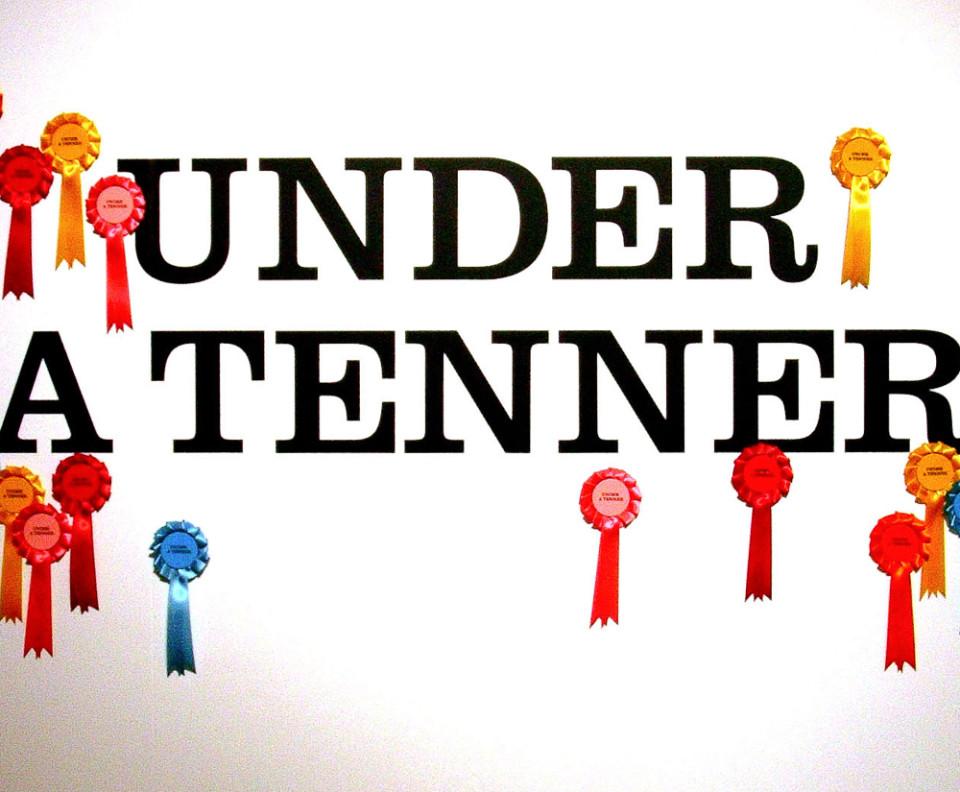 Exhibition graphics for Under a Tenner Design Museum exhibition – Park Studio