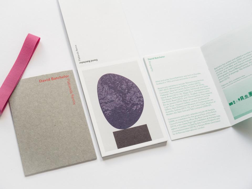 David Batchelor exhibition catalogue designed by Park Studio