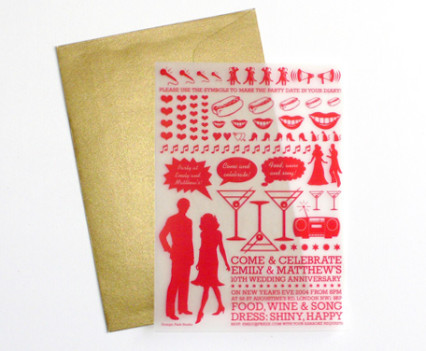 Letraset wedding invitation design by Park Studio