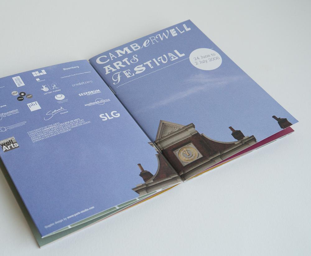 Creative campaign identity for Camberwell Arts Festival – Park Studio