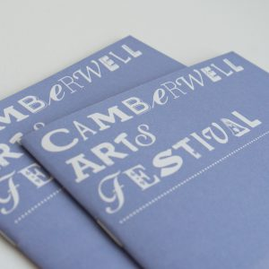 Camberwell Arts Festival programme designed by Park Studio