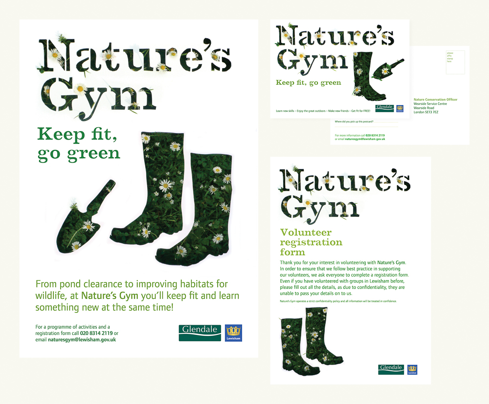 Creative campaign identity for Nature's Gym – Park Studio