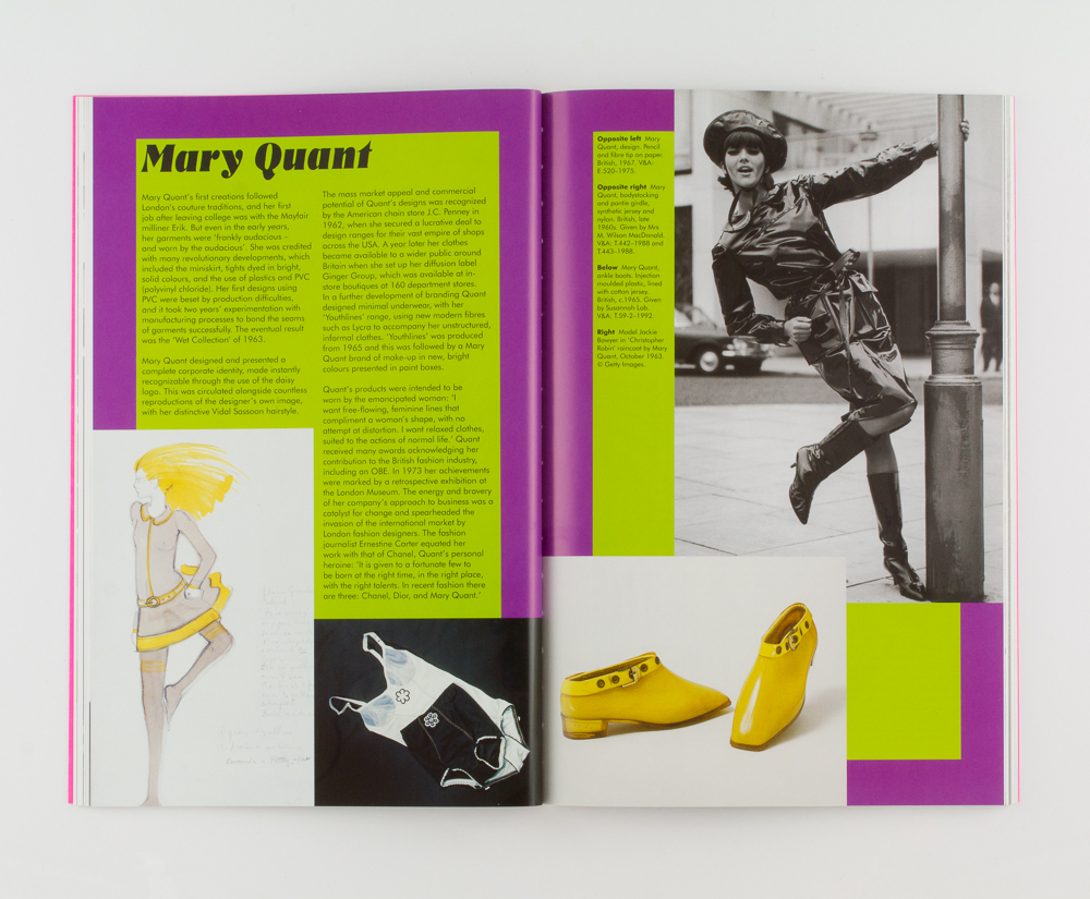 Swinging Sixties V&A publishing book design by Park Studio